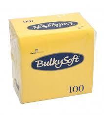 Bulkysoft servet 2-lgs 33 x 33 cm 1/4 lemon, 1200 stuks