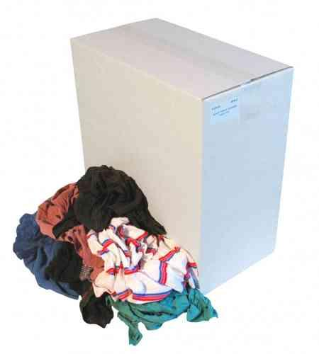 Poetslappen Bonte tricot doos 10 kg