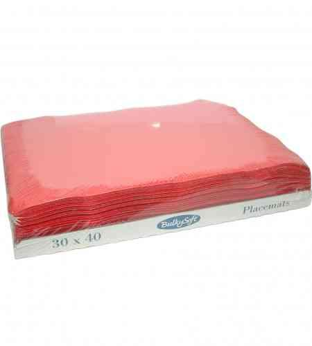 Placemats rood 30 x 40 cm, 2000 stuks