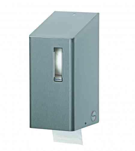 Santral doproldispenser voor 2 toiletrollen met dop