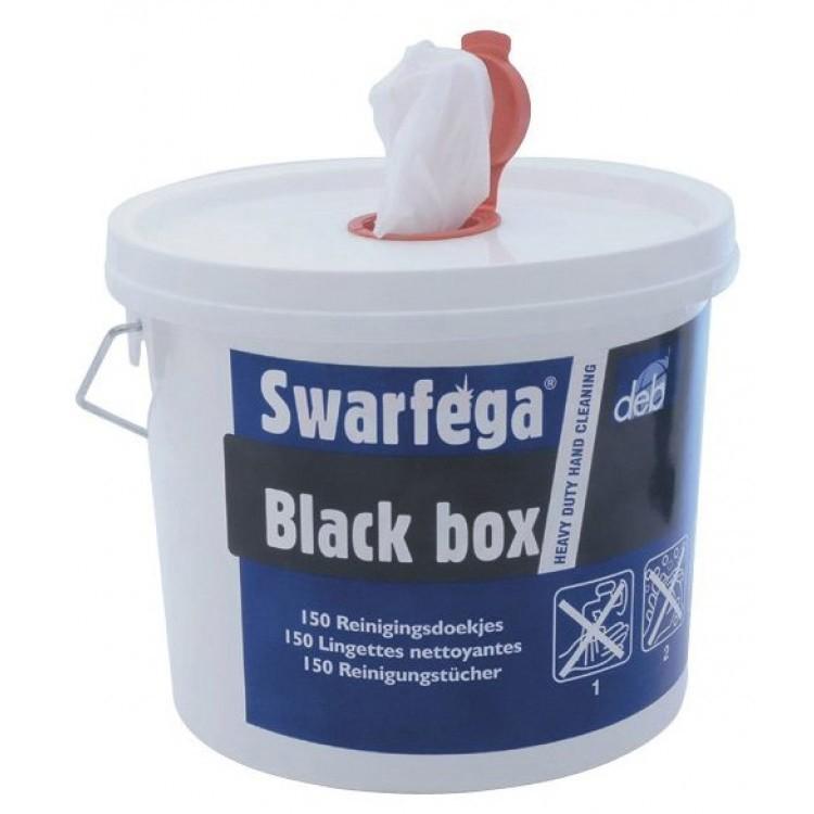 Swarfega Black Box, 4 emmmers a 150 doeken