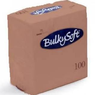 Bulkysoft servet 2-lgs 24 x 24 cm 1/4 siena, 3000 stuks