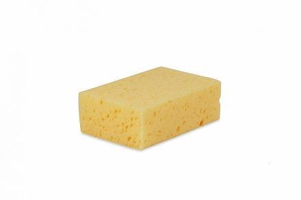 Wecoline huishoudspons geel per stuk verpakt