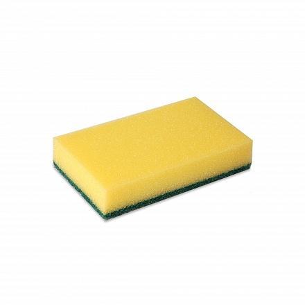 Wecoline schuurspons met vlies geel/groen, 10 stuks