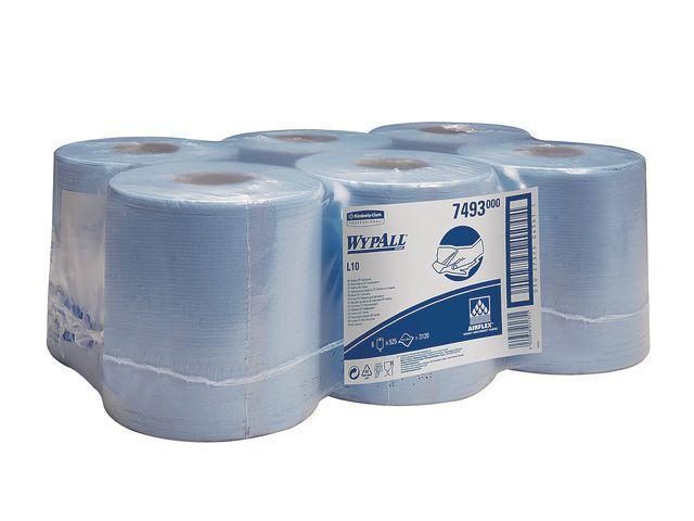 Wypall L10 poetsdoek midi 1-lgs airflex blauw , 6 rollen