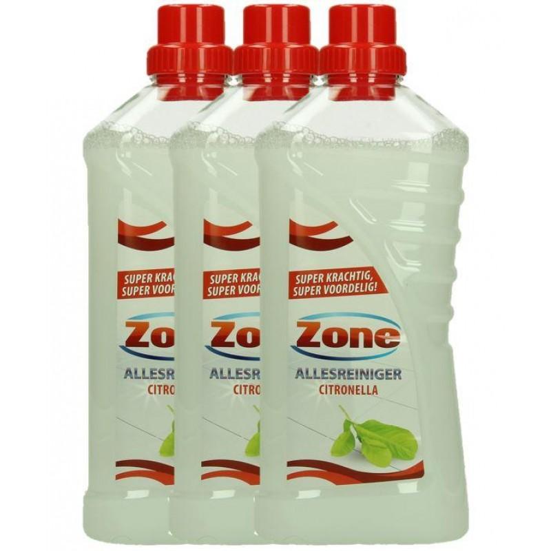 Zone allesreiniger citronella, 12 x 1 liter