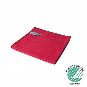 Microvezeldoek ECO rood 32 x 32 cm, 10 stuks