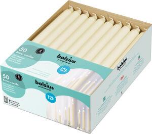 Bolsius tafelkaars ivoor 12 branduren, 2 x 50 stuks