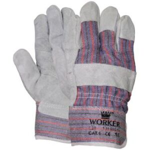 Werkhandschoen Amerikaantje met palmversterking mt.10