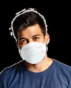Ribcap mondmasker herbruikbaar wit, maat M