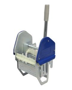 Strengenmop-pers metaal blauw