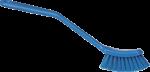 Vikan afwasborstel smal 29 cm blauw medium vezel