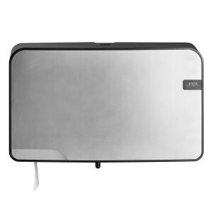 Quartz Silver duo toiletrolhouder compact / traditioneel