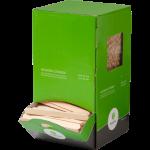 Biodore roerstaafjes hout dispenserbox, 1000 stuks