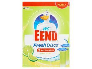 WC Eend fresh disc navulling Duo Lime, 5 x 2 stuks