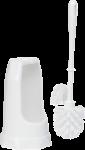Vikan classic toiletborstel wit met randborstel in houder