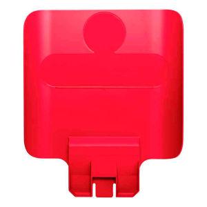 Rubbermaid paneel voor recyclingstation rood