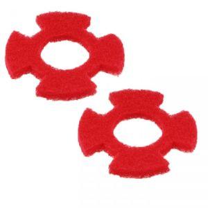 Pad I-mop kit pad XL rood, set 2 stuks