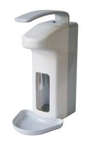 Zeep- & desinfectiedispenser kunststof 500 ml + opvangschaal MQL05L