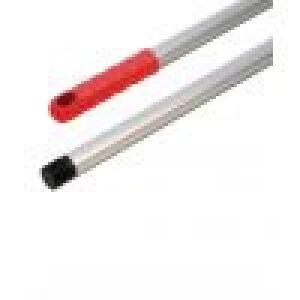 Steel aluminium 143 cm rood met schroefdraad