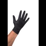 Handschoen nitril poedervrij zwart S 100 stuks