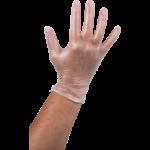Handschoen vinyl poedervrij wit L 100 stuks