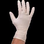 Handschoen latex poedervrij wit L 100 stuks