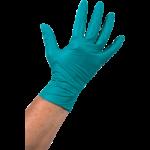 Handschoen nitril poedervrij groen L, 10 x 100 stuks.