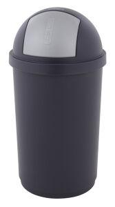 Curver afvalbak Push Bullet 50 liter grijs