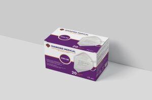 Diamond Medical FFP2 maskers 20 stuks - per stuk verpakt