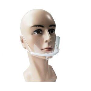 Doorzichtig mondkapje - gezichtsscherm