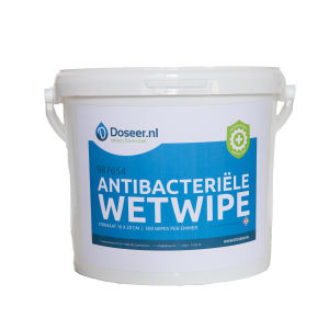 Doseer.nl antibacteriële wet wipes, emmer 500 wipes