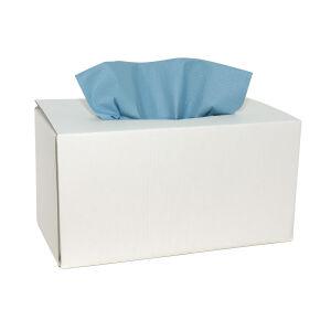 X-wipe werkdoek blauw 42 x 34 cm, dispenserdoos 160 doeken