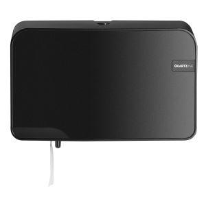 Quartz Black duo toiletrolhouder compact / traditioneel