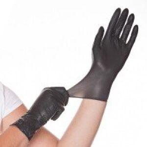 Hygostar handschoen latex zwart poedervrij Maat M, 1 x 100 stuks