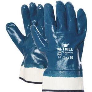 Werkhandschoen NBR M-Trile 50-040 blauw maat 10