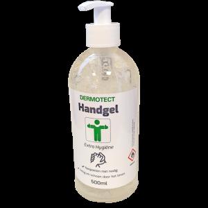Dermotect Handgel Extra Hygiëne 500 ml pompflesje , 12 x 500 ml
