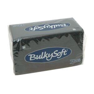Bulkysoft servet PTP 2-lgs 38 x 38 cm 1/8 zwart, 800 stuks